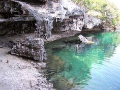 Blue Hole at Hoffman's Cay on the Bahamas Berry Islands