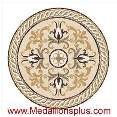 """Madison, 48"""" Waterjet Medallion - MedallionsPlus.com - Floor Medallions on Sale. Tile, Mosaic, & Stone Inlays."""