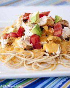 Clean Eating Chicken Tex Mex Alfredo Pasta