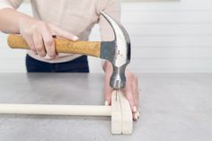hammering nail on wooden leg Baby Diy Projects, Wood Projects, Diy Baby Gym, Baby Learning Activities, Kids Outdoor Play, Play Gym, Teepees, Wooden Leg, Baby Swings