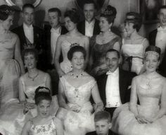 Madame & Monseigneur, the comte and comtesse de Paris with children and son and daughters in law, at Princess Diane+ Karl of Wurttemberg pre wedding. 1960