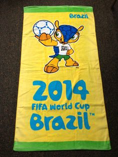 Front side of the #FIFA #WorldCup Kid's Beach towel #WorldCup2014 #WorldCupBrasil #WorldCupBrazil #scarf #soccer #football #futbol #fan #fashion #style #beach #kids
