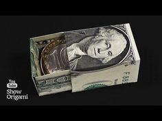 Origami box of money. How to make a box out of the dollar. Origami Ball, Origami Love, How To Make Origami, How To Make Box, Origami Design, Origami Stars, Origami Paper, Origami Flowers, Dollar Oragami