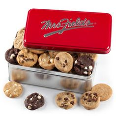 Mrs Fields Clic Tin 60 Nibblers 33 99 Care Packages And Gifts For Every Occasion Pinterest Greek