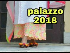 Hi everyone today i am sharing a very awesome palazzo design this palazzo is very easy to make but look very elegent & stylish i am showing full tutorial ste. Salwar Neck Designs, Blouse Designs, Pallazo Pants, Stitching Dresses, Make Your Own Dress, Scalloped Hem, Indian Designer Wear, Fashion Pants, Fashion Dresses