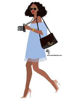 Let's explore the city (sneakers are in her bag) www.nichollekobi.com