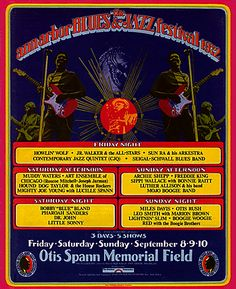 1972 Ann Arbor Blues and Jazz Festival Poster