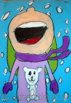 Kids Artists: Catching snowflakes