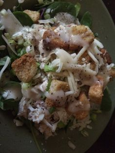 ... with Scallions, Parmesan, Croutons, and Sweet Vidalia Onion Dressing