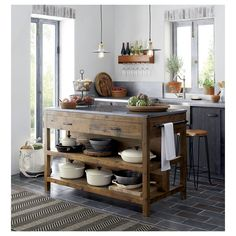 Bluestone Kitchen Island in Kitchen Islands & Carts | Crate and Barrel