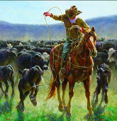 Silent Cowboy Sunday. (Via Jim Rey http://jimreystudio.com/)
