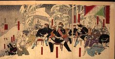鹿児島暴徒出陣の図