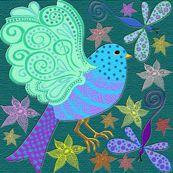 bird zentangle - krs_expressions - Spoonflower fabric