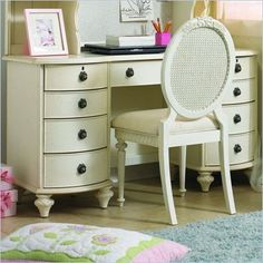 Lea Furniture. Traditional styling . Distressed vintage white color.