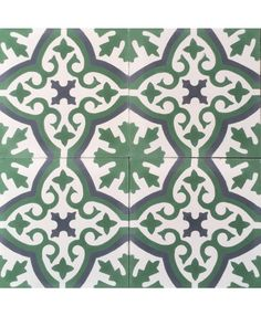 This is an example of our bespoke Havana tile in subtle Verde green and Gun metal grey tones. Strong and sophisticated, it offers a calm feel to any room it inhabits. Perfect for a Edwardian style hallway or Victorian style bathroom on either wall or floor. #floraltiles #greentiles #encuastictiles #encaustictiles #cementtiles #moroccantiles #beautifultiles