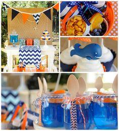 Preppy Whale Themed Birthday Party with Such Cute Ideas via Kara's Party Ideas KarasPartyIdeas.com @Birmingham Fun and Family Magazine