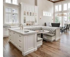 The Importance of Hamptons Kitchen - luxury kitchen Grand Kitchen, Kitchen Nook, Home Decor Kitchen, Interior Design Kitchen, Kitchen Island, Kitchen Layout, Room Interior, Luxury Kitchens, Home Kitchens