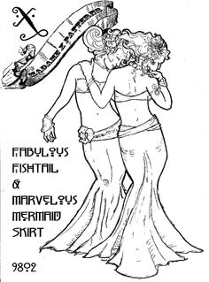 Artemis Imports - Belly Dance Store - Bellydance Pattern - The Marvelous Mermaid and Fabulous Fishtail Skirt by Madame X, $10.00 (http://www.artemisimports.com/the-marvelous-mermaid-and-fabulous-fishtail-skirt-by-madame-x/)