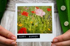 Happy Summer!  How fun... and how badly I would like a super cool label maker and a fuji instamax mini polaroid cam, love.