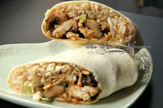 The Kitchen Whisperer Crunchy Asian Hoisin Chicken Wraps Burger Recipes, Mexican Food Recipes, New Recipes, Healthy Recipes, Ethnic Recipes, Favorite Recipes, Asian Chicken Wraps, Hoisin Chicken, Whole Roasted Chicken