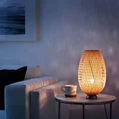 Ikea Pinterest, Rattan Lamp, Bamboo Lamp, Deco Luminaire, Make A Lamp, Lampe Decoration, Clear Light Bulbs, Bamboo Shades, Ikea Family