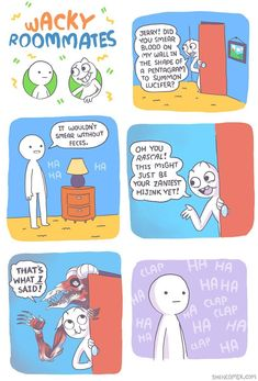 See more 'Shen Comix' images on Know Your Meme! Shen Comics, Owlturd Comics, Cute Comics, Funny Comics, Stupid Funny Memes, Funny Laugh, Hilarious, Funny Comic Strips, Funny As Hell