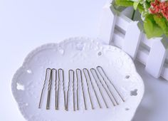 4.49$  Buy here - http://alil3a.shopchina.info/go.php?t=32709202724 - Light brown bobby pins 6cm 100pcs/lot hair pins ripple pins barrettes hair clips women accessories headwear New arrival  #buymethat