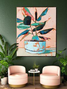 Plant Painting, Plant Art, Painting Inspiration, Art Inspo, Uppsala, Abstract Flowers, Diy Art, Flower Art, Watercolor Art