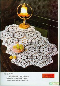 Crochet Bedspread Patterns Part 15 - Beautiful Crochet Patterns and Knitting Patterns Crochet Bedspread Pattern, Crochet Doily Patterns, Crochet Motif, Free Crochet, Knitting Patterns, Crochet Table Runner, Crochet Tablecloth, Doily Rug, Doilies