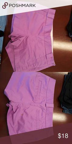 J Crew Cotton Side Zip Shorts Fucshia shorts. Good condition. Small spot on the back. J. Crew Shorts