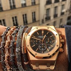"""Audemars Piguet in Rose Gold x Bracelets from @DjulaJewelry """