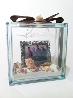 Glass Block with vinyl, would be good for Jamaica/Florida pictures