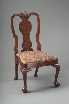 Side chair (one of a pair), 1750-60.  Probably carved by John Welch; Boston.  (68.840 & 68.839)