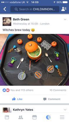 Halloween witches brew Theme Halloween, Halloween Arts And Crafts, Halloween Math, Halloween Displays, Halloween Witches, Outdoor Halloween, Halloween Activities, Nursery Activities, Preschool Learning Activities