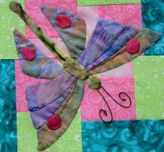Art Nouveau butterfly in batik fabri
