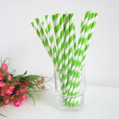 Light Green Striped Paper Straws Online http://www.paperstrawssale.com/light-green-striped-paper-straws-online-500pcs-p-227.html