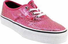 Girls Vans Authentic Glitter Skate Shoes