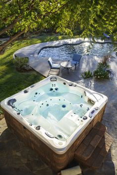 Bring home a Caldera #HotTub. A beautiful fit for your #backyarddesign.