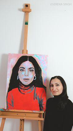 #SerenaSingh #Art #Artist #Basel #Switzerland #Neoncolors #Portrait #Painting #Modernart #colorful #contemporaryart #Kunst #Frauenportrait