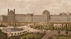 Circa 1700, The famous gardens of the Tuileries, a magnificent royal palace in the centre of Paris.