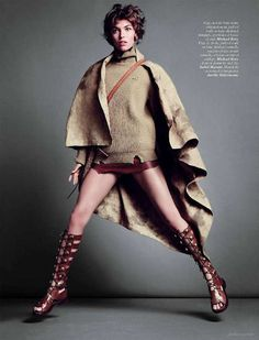Arizona Muse Takes a Seat for Vogue Paris March 2012