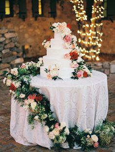 romantic wedding cake idea; featured photographer: Erich McVey