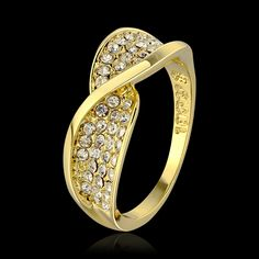 Goedkope Gratis verzending, kwaliteit nieuwe stijl 18 k vergulde ring, delicate…