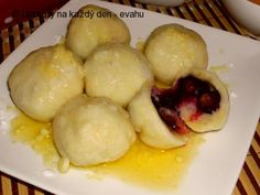 Blueberry Dumplings, Deserts, Potatoes, Dishes, Vegetables, Food, Kitchen, Rezepte, Desserts