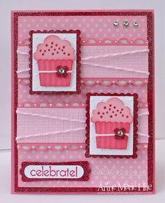 Aug. 4, 2011 blog entry - celebrate with pink!  All the details make this a very special card