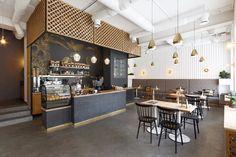 Fabryka Kavy coffee shop, Ivano-Frankivs'k, 2017 - N+K Architectvra