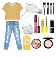 """""""Untitled #14"""" by auliaarist on Polyvore featuring Monki, Bebe, Steve Madden, MAKE UP FOR EVER, Maybelline, Kate Spade, MAC Cosmetics and Smashbox"""