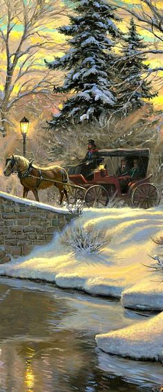 Ideas For Vintage Christmas Art Painting Snow Victorian Christmas, Vintage Christmas Cards, Vintage Holiday, Vintage Cards, Retro Vintage, Christmas Past, Christmas Pictures, Christmas Greetings, Christmas Holidays