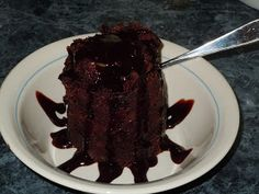 3-Minute Chocolate Mug Cake .... Microwave. Just made this for my sister, she said it was good