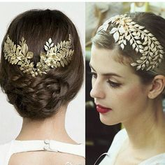 バロッククラウン2016新しい到着ファッションゴールド葉ブライダルウェディングティアラクラウンパーティーウェディング髪の宝石アクセサリー